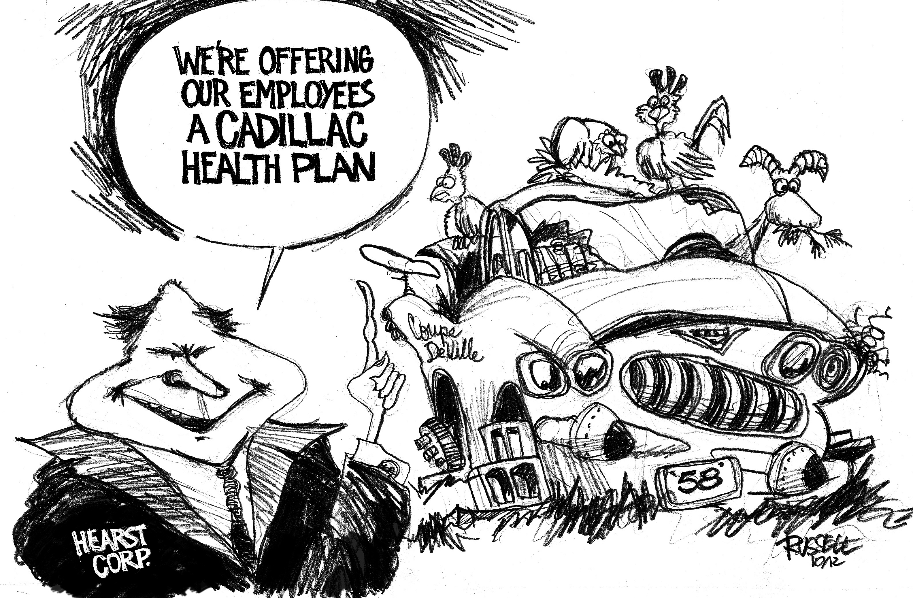 Cartoon-Hearst-Cadillac-Plan-by-George-Russell