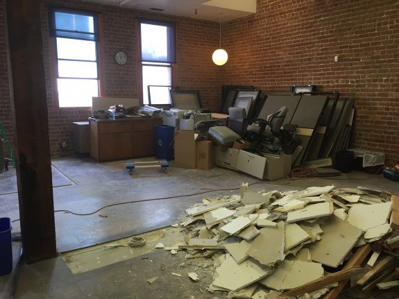 Guild office wreckage all part of the plan