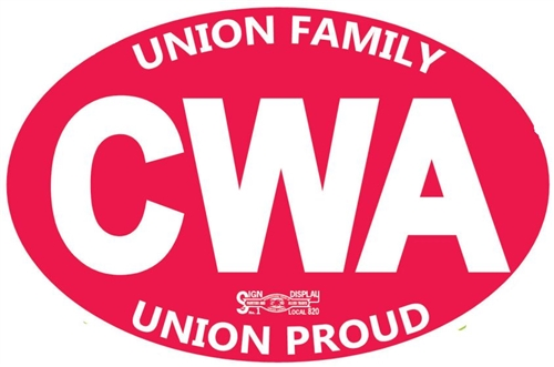 March with CWA president against corporate greed this Sunday