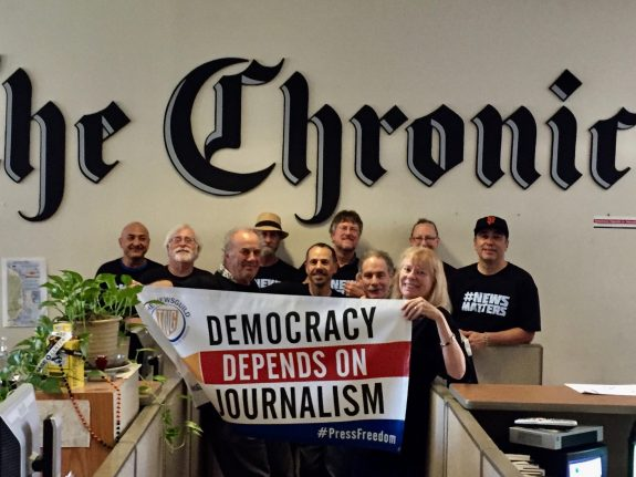 Chronicle bargaining focuses on a modern contract with a profitable employer