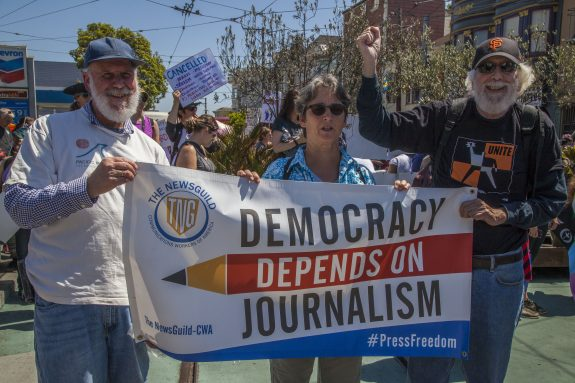 Guild journalists defend free press at rally