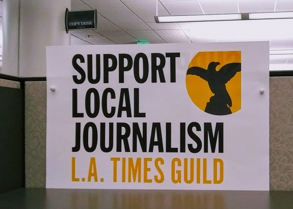 After 136 years, the LA Times votes to unionize and our student is nominated delegate