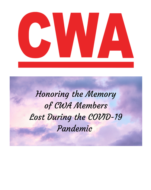 Remember union members lost to  COVID